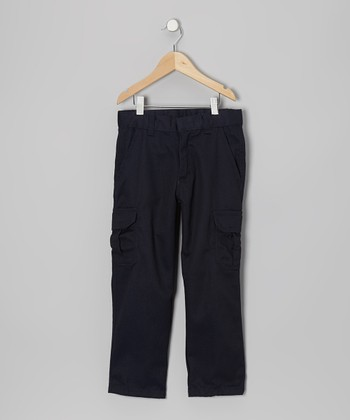 Navy Cargo Pants - Boys