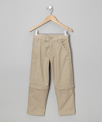 Khaki Convertible Pants - Boys
