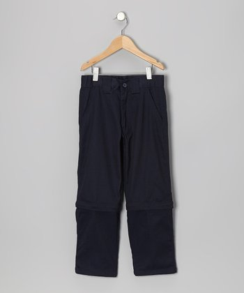 Navy Convertible Pants - Boys