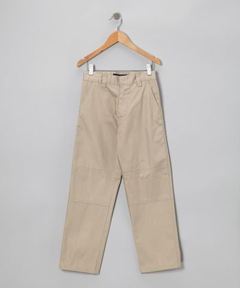 Khaki Side Pocket Pants - Boys