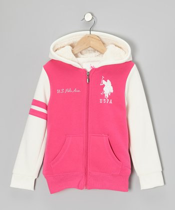 Pink Zip-Up Hoodie - Girls