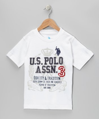 White 'Quality & Tradition' Tee - Boys