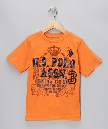 Orange Heather 'Quality & Tradition' Tee - Boys