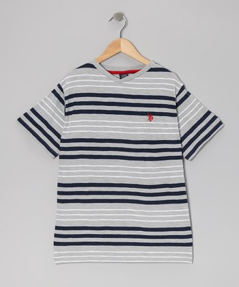 Light Heather Stripe Tee - Boys