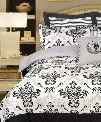 Black & White Leona Comforter Set