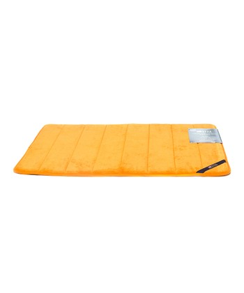 Orange Microplush Memory Foam Bath Mat
