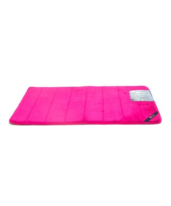 Raspberry Soda Microplush Memory Foam Bath Mat