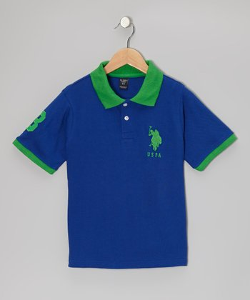 Cobalt & Green 'USPA' Polo - Boys