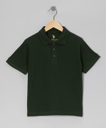 Hunter Green Short-Sleeve Polo - Boys