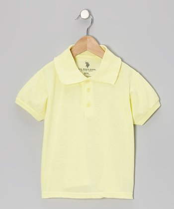 Yellow Short-Sleeve Polo - Boys