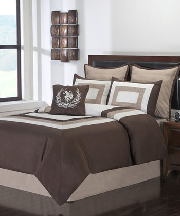 Tan & Brown Resort Storm King Comforter Set