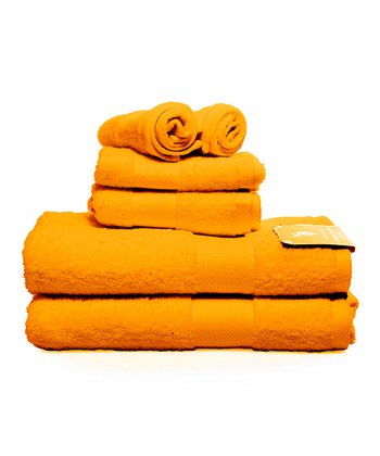 Orange Ringspun Bath Towel