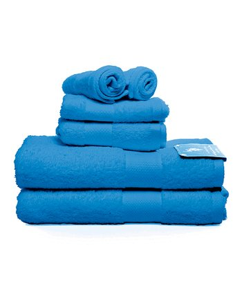 Aqua Sea Ringspun Bath Towel