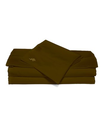 Cocoa Sateen Sheet Set