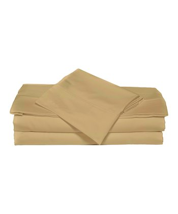 Harvest Gold Luxurious Solid Sheet Set