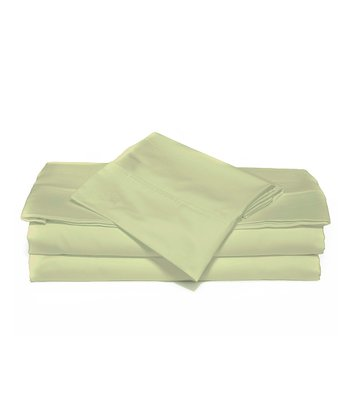 Pistachio Green Luxurious Solid Sheet Set