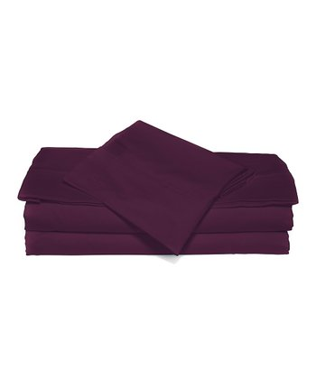 Plum Berry Luxurious Solid Full Sheet Set