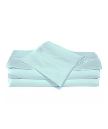 Robin's Egg Blue Luxurious Solid Sheet Set