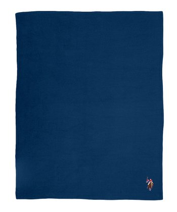 Navy Fleece Throw
