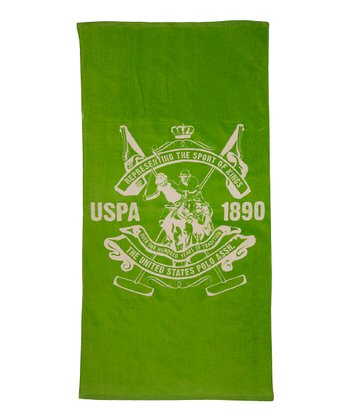Lime Green Palm Springs Crest Beach Towel