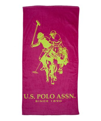 Fuchsia & Lime Outline Beach Towel