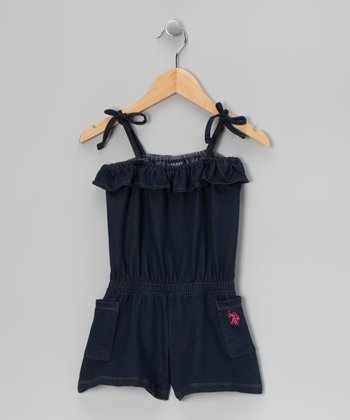 Dark Wash Denim Romper