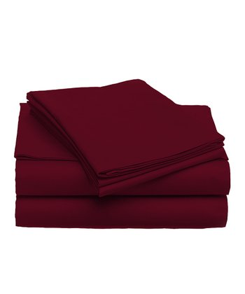 Burgundy Sheet Set