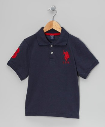 Navy & Red 'USPA' Polo - Toddler & Boys