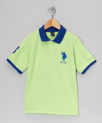 Mint & Blue 'USPA' Polo - Boys