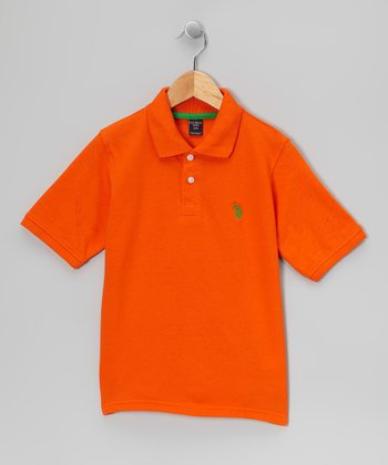 Orange & Green 'USPA' Polo - Boys