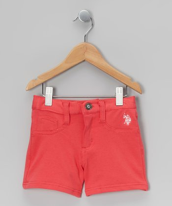 Coral Stretch Shorts