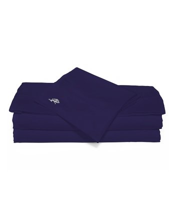 Navy Sateen Luxury Sheet Set
