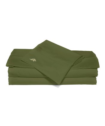 Sage Sateen Queen Luxury Sheet Set