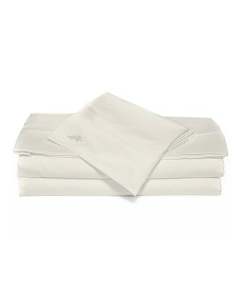 Ivory Sateen Luxury Sheet Set