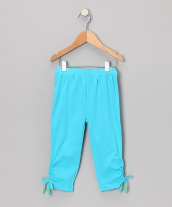 Miami Blue Cinched Capri Pants - Toddler & Girls