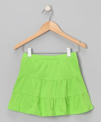 Bright Green Tiered Skirt - Toddler & Girls