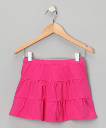 Fuchsia Tiered Skirt - Toddler & Girls