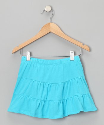 Miami Blue Tiered Skirt - Toddler & Girls