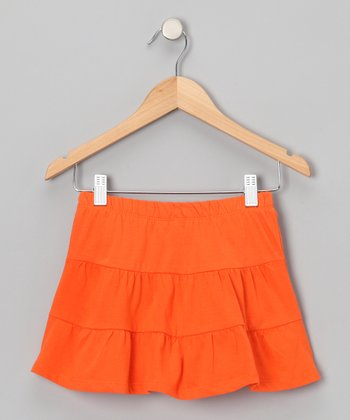 Orange Tiered Skirt - Toddler & Girls