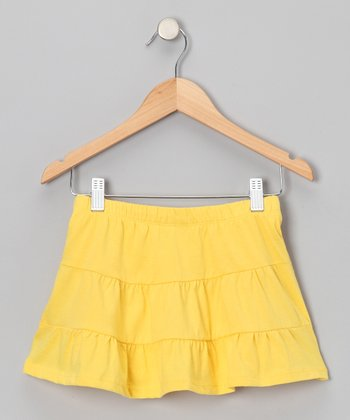 Yellow Tiered Skirt - Toddler & Girls
