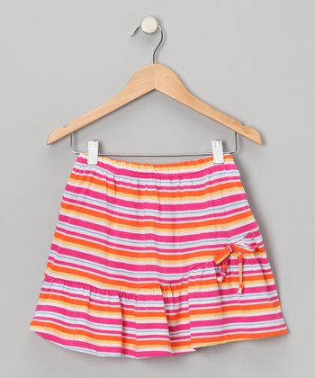 Fuchsia Stripe Skirt - Toddler & Girls