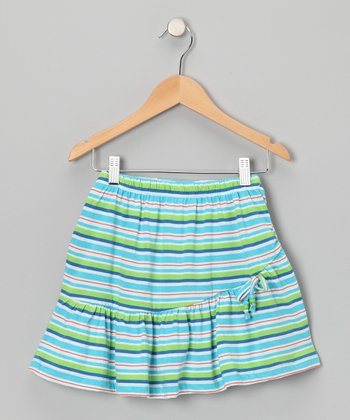 Miami Blue Stripe Skirt - Toddler & Girls