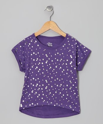 Purple Sequin Dolman Top
