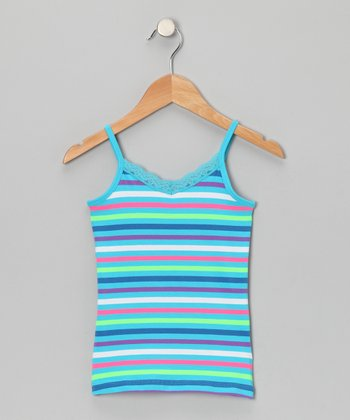 Blue Stripe Camisole - Girls