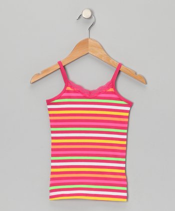 Pink Stripe Camisole - Girls