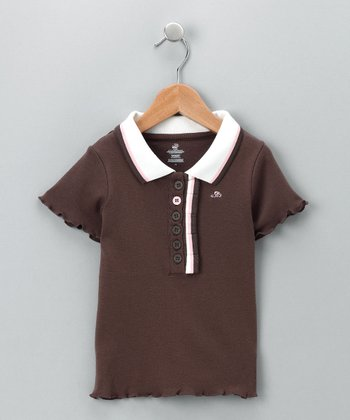 Brown Short-Sleeve Polo - Infant