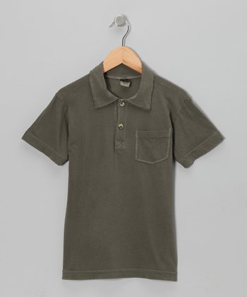 Olive Brown Polo - Boys