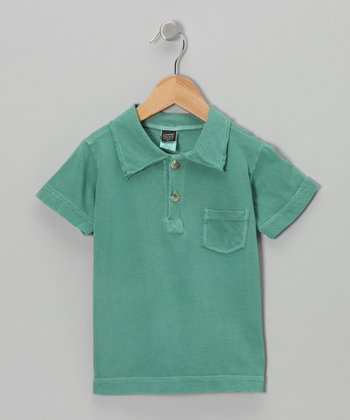 Green Polo - Boys