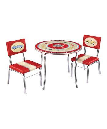 Retro Racer Table & Chair Set