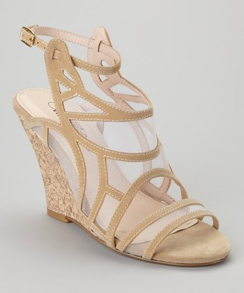 Beige Tier-20x Wedge Sandal